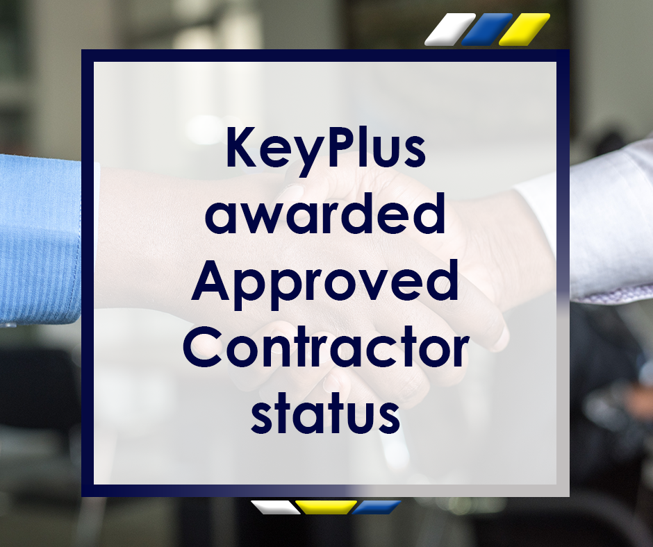 KeyPlus Awarded Approved Contractor Status Featured Image