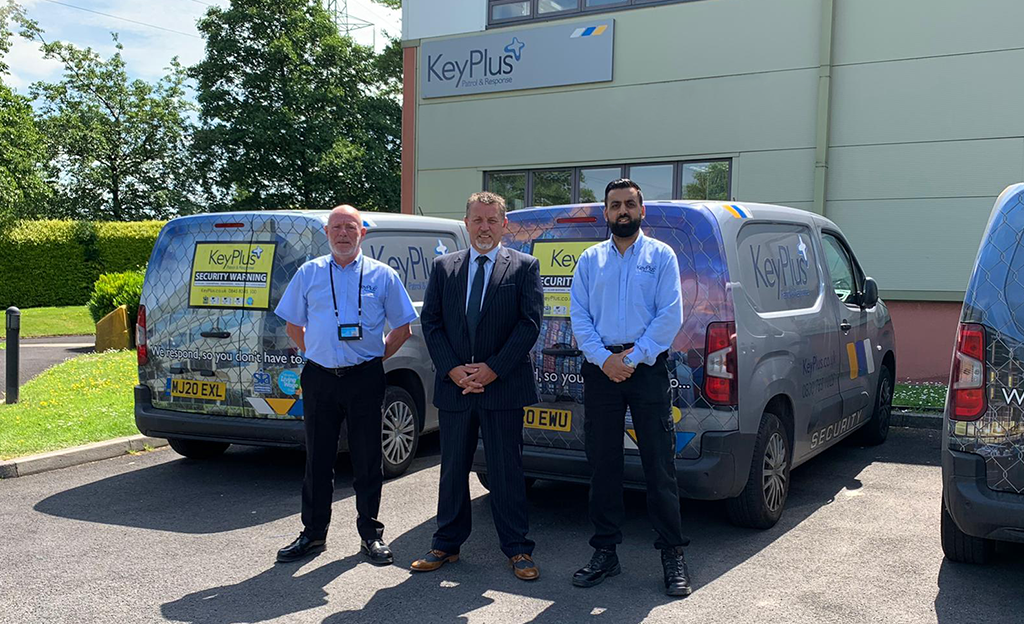 Neil Windsor, Managing Director with Ronnie Lyne and Adeel Shafiq, Mobile Response Supervisors